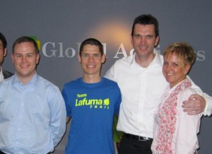 Daniel with some of the Global Advisors team after his presentation