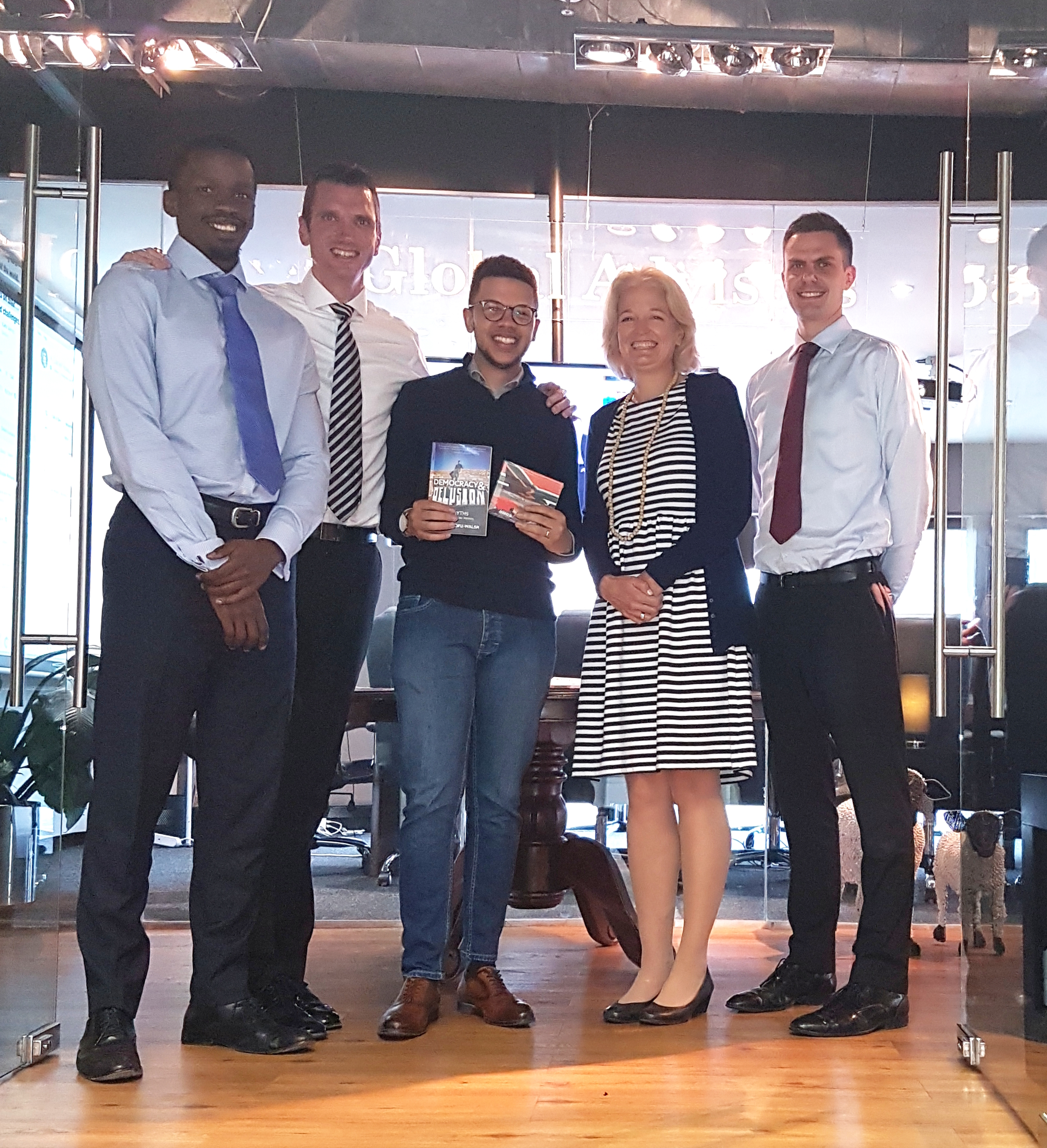 Some of the Global Advisors team and alumnus Sizwe Mpofu-Walsh